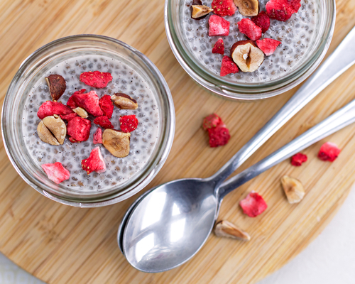 healthy trend food vanilla chia pudding