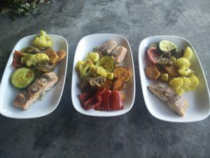 baked salmon & veggies