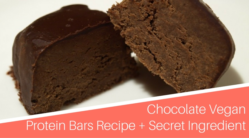 Chocolate Vegan Protein Bars Recipe with a Secret Ingredient