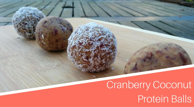 unsweetened dried cranberries cranberry coconut protein balls